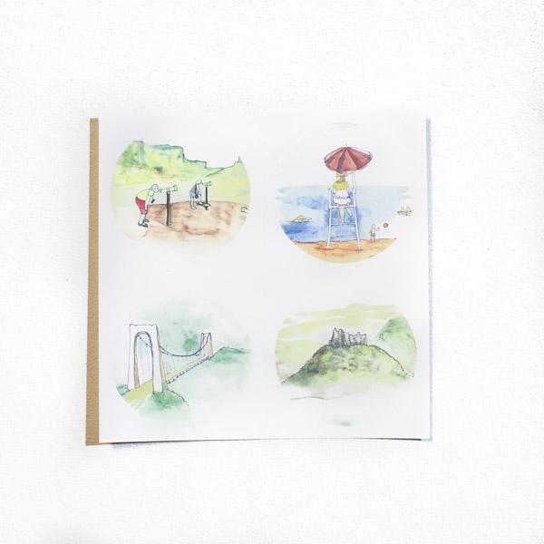 Diagonale du vide - Le coffret cadeau (Les stickers aquarelle)