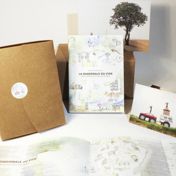Diagonale du vide - Le coffret cadeau (Le livre + 5 cartes postales + 1 carte postale grand format + Les stickers aquarelle)